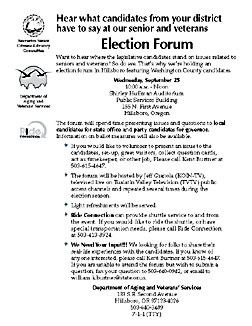 DAVS 2002 Election Forum Flyer