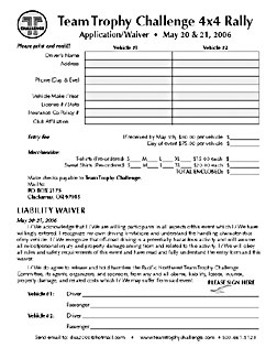 Team Trophy Challeng Application form