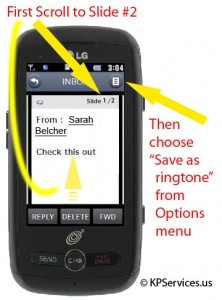 How to set a received Sound file as your ringtone