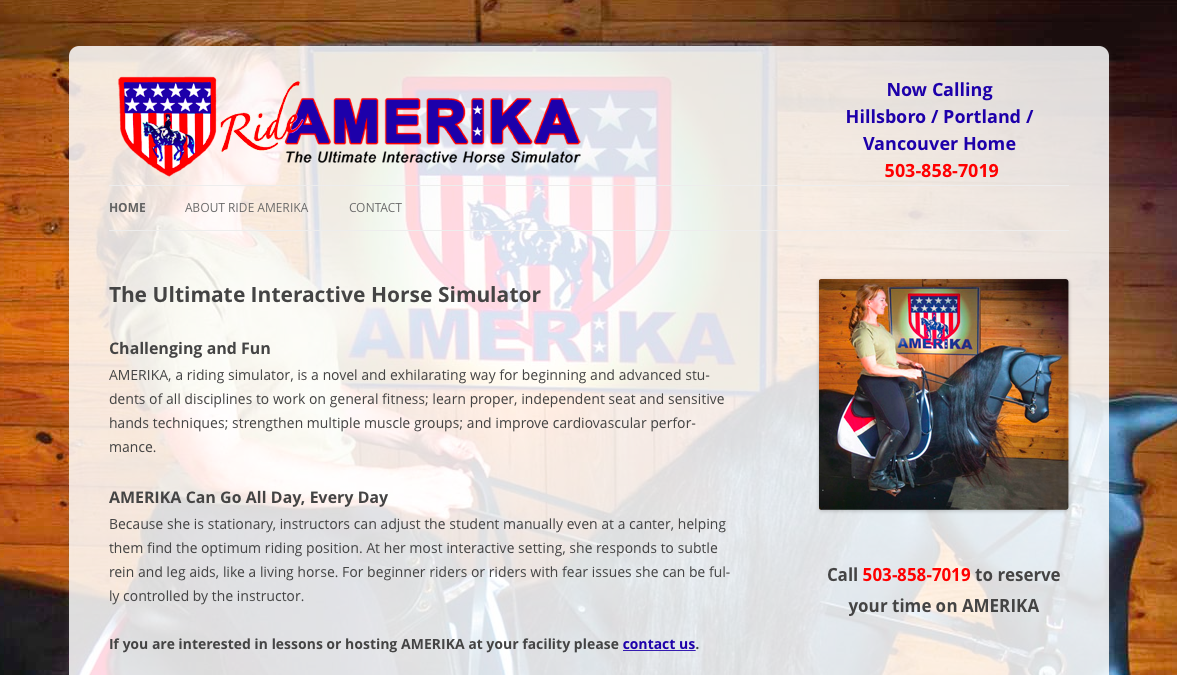 Ride AMERIKA website screenshot