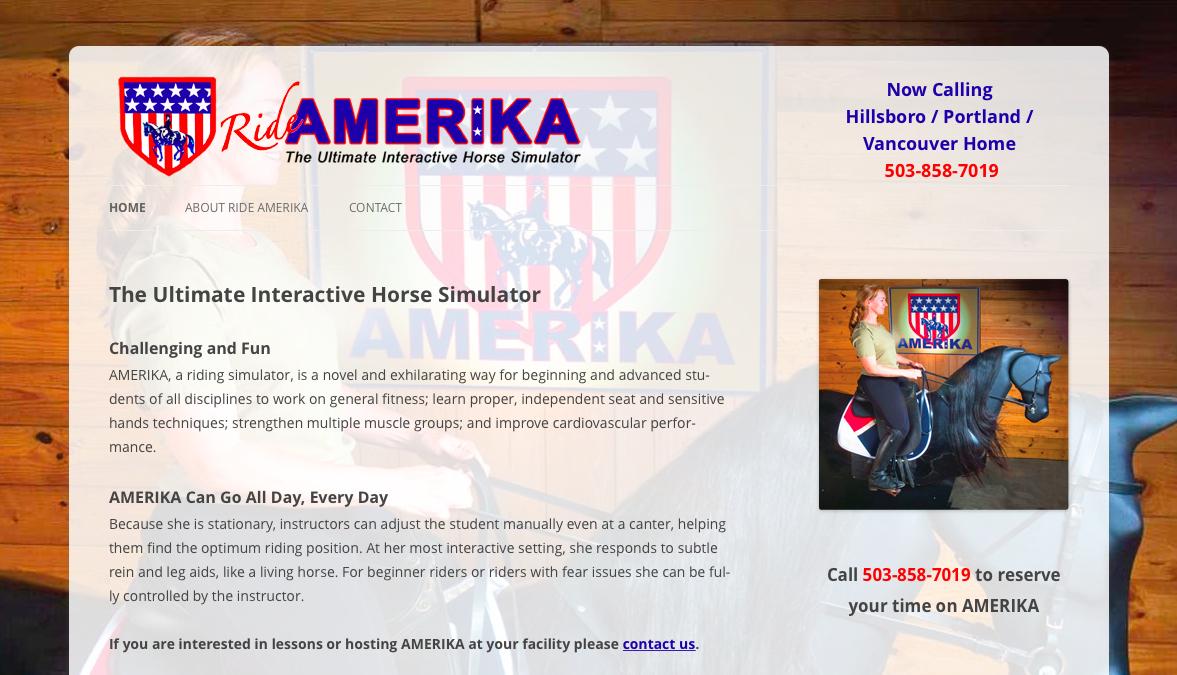 Ride AMERIKA website screenshot